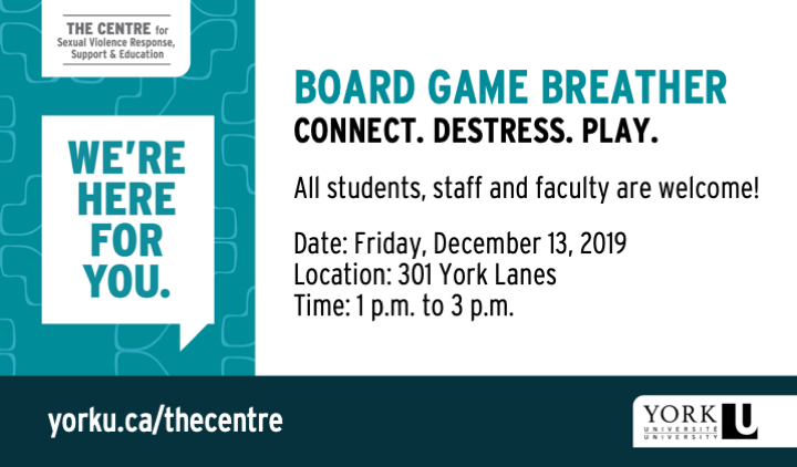 Board Games Breather Event Poster